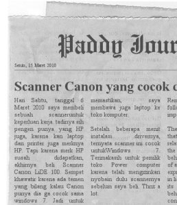 Paddy journal